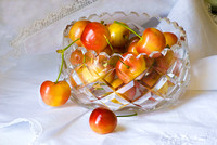 Cherrys and Crystal Bowl #009