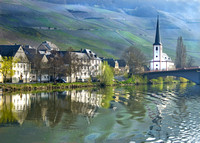 Mosel River Reflections #0398