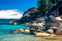 Rocks and Clear Water, Bliss Beach, Lake Tahoe #3908